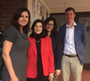 From left to right: Analisa Sondergaard, Marian Moskowitz, Deborah Ryan, Joshua Maxwell